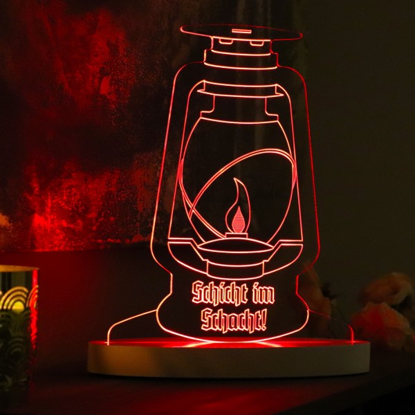 "LED-Lampe ""Schicht im Schacht"" inkl. Sockel"