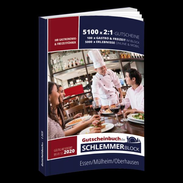 Essen, Mülheim, Oberhausen 2020 Gutscheinbuch.de Schlemmerblock