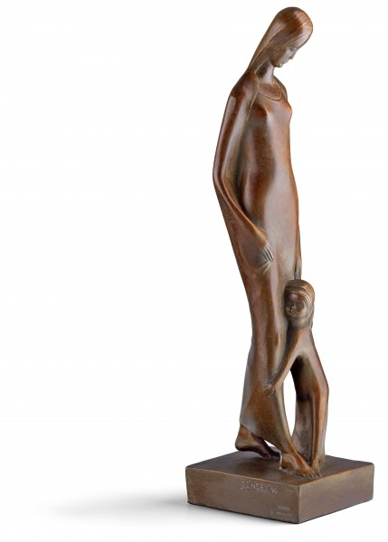 "Joseph Enseling: Skulptur ""Madonna mit Kind"" (1920), Reduktion in Bronze"