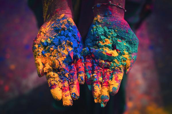 Indien - Holi Hands