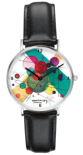 "Künstler-Armbanduhr ""Kandinsky - Kreise in einem Kreis"""