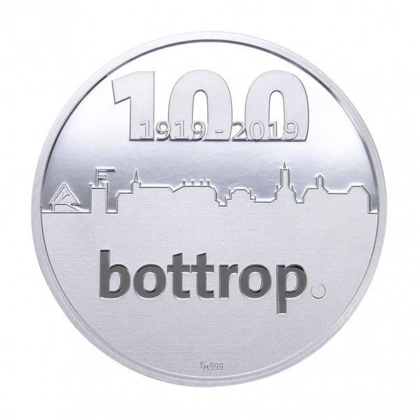 Sonderprägung 100 Jahre Bottrop - silber