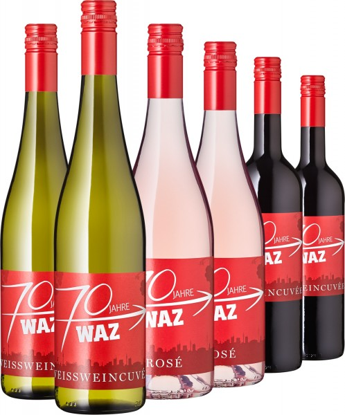 WAZ 6-er Jubiläumspaket (Rot, Weiß, Rosé) - Sommersause