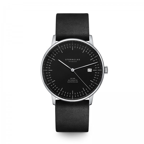 "Sternglas-Automatik ""Chronometro"" schwarz / schwarz"