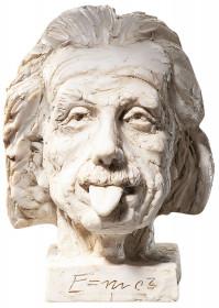"""J. Nemecek: """"Einstein-Kopf"""" - kleine Version (12x16,5cm), Kunstguss"""