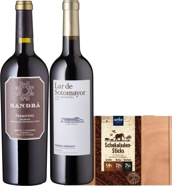 Schokolade und Wein