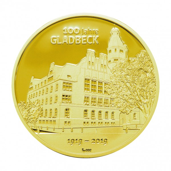 Sonderprägung 100 Jahre Gladbeck - gold