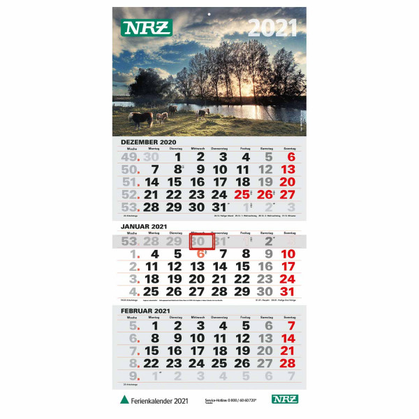 Dreimonatskalender NRZ 2021