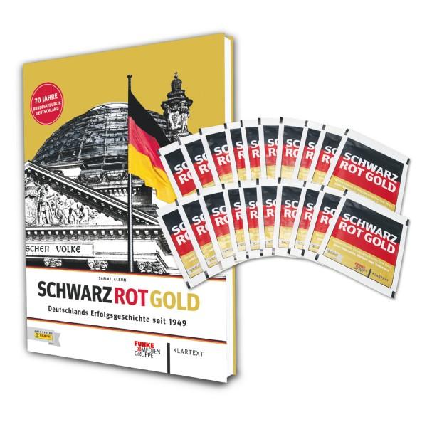 Panini Schwarz Rot Gold - Hardcover + 20 Stickertüten