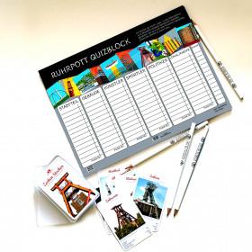Spiele-Set Kartenspiel Zechen-Stechen & Quizblock Ruhr