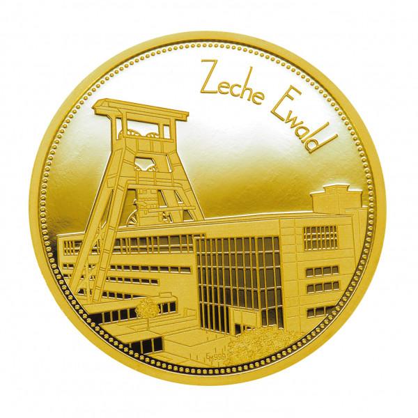 """Sammeledition """"Zechen im Ruhrgebiet"""" - 6. Motiv """"Zeche Ewald"""" - Gold"""