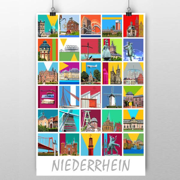 Poster Niederrhein 90 x 60cm
